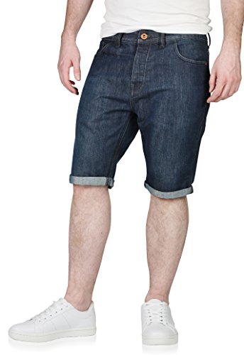 Next Mens Denim Jean Shorts with Rolled Hem