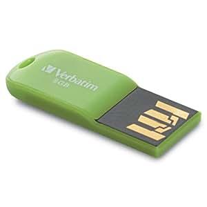 Verbatim 47423 8GB USB 2.0 Micro USB Drive - Green