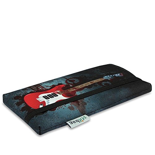 Stilbag Etui 'MIKA' pour Apple iPhone 7 - Dessin: Golden Age Bloody Guitare
