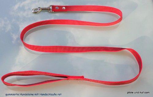 Artikelbild: Gummierte Hundeleine 1,50m mit Handschlaufe rot