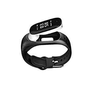 SOULFIT Sonic V08 activity tracker with detachable bluetooth earpiece, Heart Rate, Blood Pressure Monitoring, Sleep Analysis, Pedometer, Long Battery Life and Sedentary Reminders for Men and Women - 1 year warranty