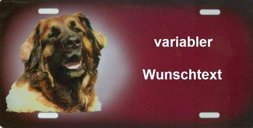Hundeschild Leonberger mit Wunschtext