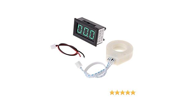 A0127 Dc 5 120 V 100a Digital Voltmeter Stromspannung Amp Meter W Hall Effekt Sensor Baumarkt