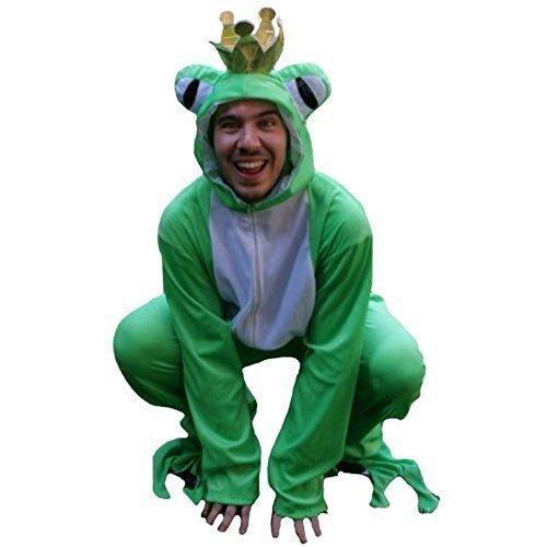 SY12 Größe L Froschkönig Kostüm, Froschkostüm für Erwachsene zum Fasching (Günstige Kostüme Für Erwachsene)