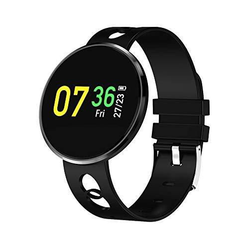 Crazystore Smart-Armband Bluetooth Fitness Tracker IP67 Wasserdicht Herzfrequenz Monitor Einfach zu bedienen Sport Schrittzähler 0,96 Zoll LCD Uhr mit 80 mAh Akku, Schwarz Iphone 2g Lcd