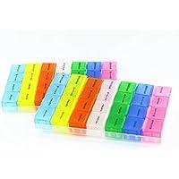 RMB® 2er Set Pillenbox bunt Tabletten-Box-Dosierer Medikamenten-Dispenser für 7 Tage entnehmbar preisvergleich bei billige-tabletten.eu