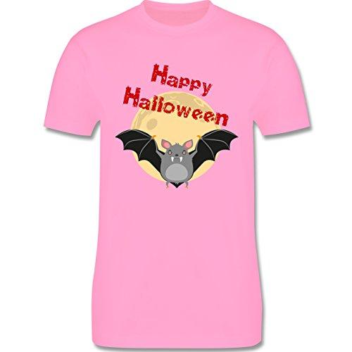 Halloween - Happy Halloween Fledermaus - Herren Premium T-Shirt Rosa