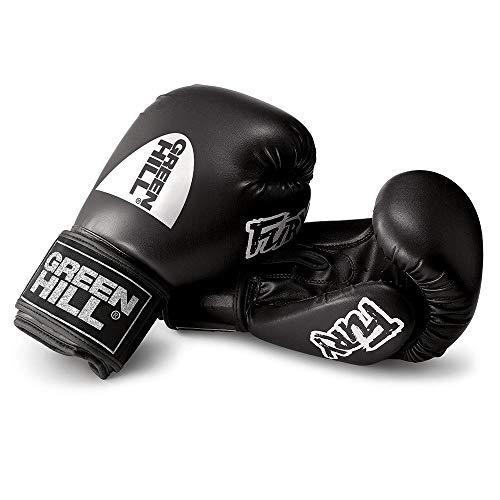 Green Hill Fury Boxing Gloves (Black, 10 OZ)
