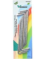 Saturnia 8042900 - Pack de 6 piezas piqueta acero camping 150 mm, blister