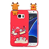 Forhouse Phone Hülle für Samsung Galaxy S7 Hülle Backcover Protective Shell Back Bumper Cover [ Santa Claus ]