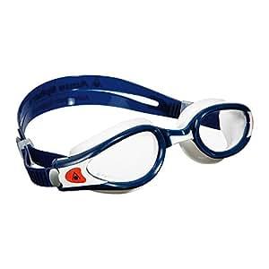 Aqua Sphere Kaiman EXO Goggles (White Blue / Clear Lenses)