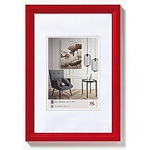 Walther Design HY460R Living Cornice, Legno, Rosso, 40 x 60 cm