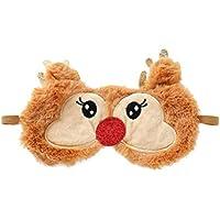 Frcolor La máscara de ojo de la felpa embroma el remiendo del ojo de los ciervos de la máscara de ojo de la noche para la Navidad de la máscara de ojo de la noche el dormir