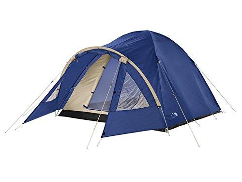 3-Personen-Iglu-Doppeldachzelt-Kuppelzelt-Camping-Zelt-Trekking-Zelt-Blau