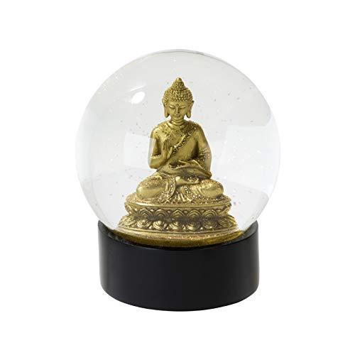 Talking Tables EMP-Globe Geschenk | Glitzer Schneekugel | Buddha, Multifarbe