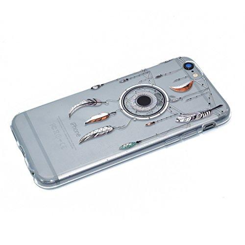 iPhone 6 Plus / 6S Plus Cover , YIGA Moda Verde Foglia di Albero Trasparente Silicone Morbido Dolce TPU Case Protezione Shell Custodia per Apple iPhone 6 Plus / 6S Plus 5.5 XX37