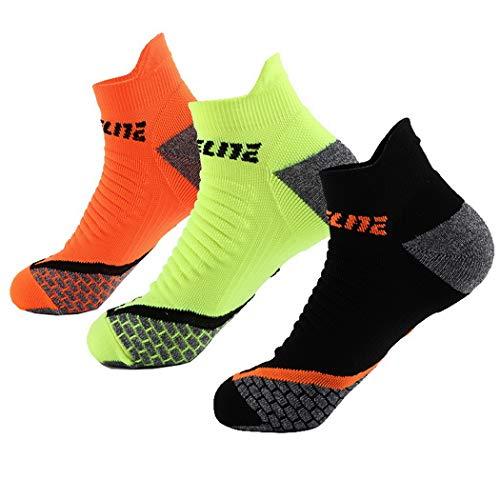 Premewish Herren Im Freien Running Radsport Socken Herren Schweißabsorption Stoßdämpfer Socken 39-44 Eine Größe 3 Paare