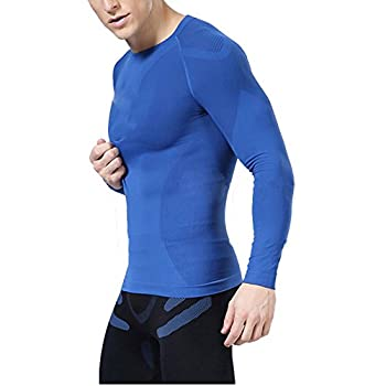 Ropalia Men Sport Athletic Top Compression Under Base Layer Long Sleeve T-shirt 0