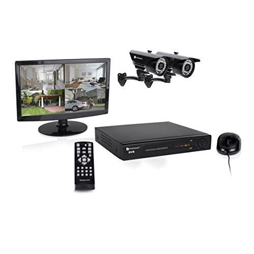 Smartwares DVR728S 8-Kanal Video-Überwachungsset inklusive 1TB Festplatte, Monitor und 2 Farbkameras für den Innen- und Außenbereich