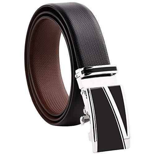 ZORO Men's Genuine Leather Italian Reversibl...