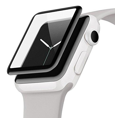 Belkin ScreenForce UltraCurve-Displayschutzfolie (geeignet für die Apple Watch der Serien 2 und 3, 38 mm, vollflächiger Schutz mit abgerundeten Kanten, echtes Glas, kratzfest) schwarz Belkin Screen Protector