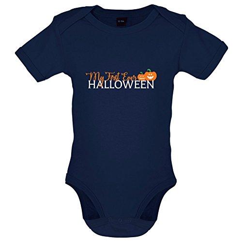 Mein erstes Halloween - Lustiger Baby-Body - Marineblau - 0 bis 3 Monate (0 Bis 3 Monate Halloween Kostüme)
