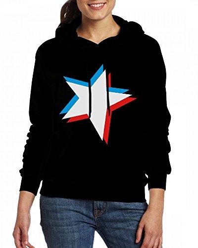 Custom Womens Hooded - Design 3d star 3c Hoodies Black
