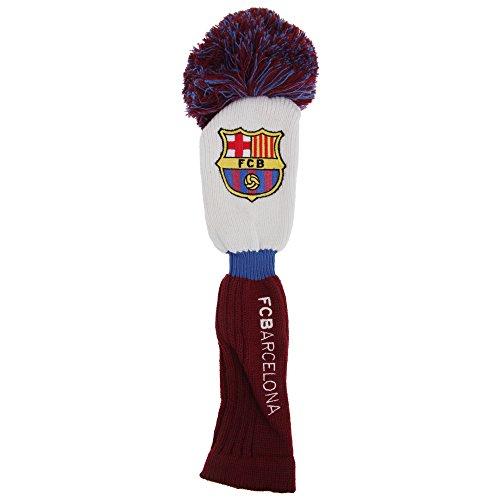 FC Barcelona Golfschläger Driver Hülle mit Bommel und Club Wappen (Einheitsgröße) (Weiß/Blau/Scarlet)
