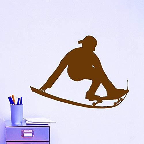 Zaosan Schwarzer Kunststoff Schlittschuhe Skateboard Sport Wandsticker Extremsport Serie Home Spezial Deko Wand EIS Ärmel schwarzer Kunststoff Tapete71x61cm
