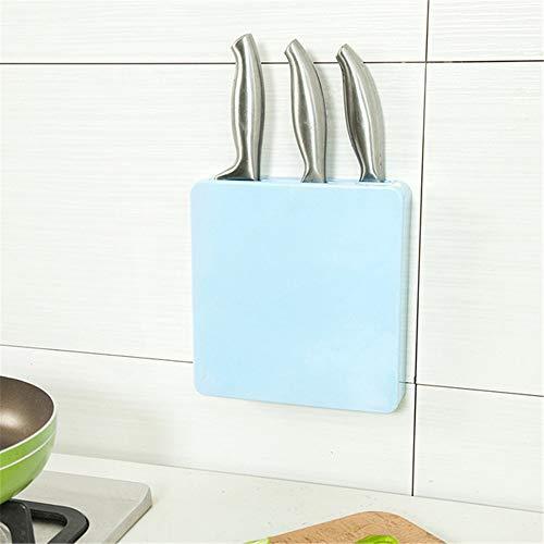 YSINOBEAR Soporte para Cuchillos Ocultos multifunción Que Ahorra Espacio en la Pared Utensilios de Cocina (Color : Azul)