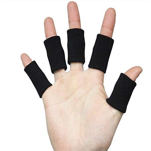 WLIXZ Erwachsene Finger-Klammer-Schiene-Hülse, Daumen-Stützschutz, weiches bequemes Kissen-Druck sichere elastische Breathable Stabilisatoren,Black