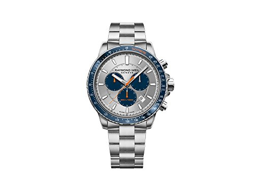 Reloj de Cuarzo Raymond Weil Tango, Plata, 43 mm, Cronógrafo, 8570-ST3-65501