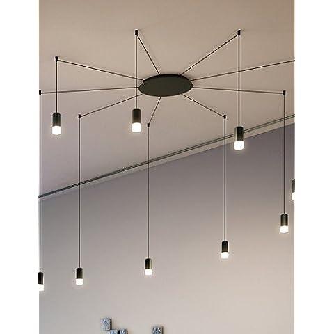 Norte contratado y creativo diseño de línea geométrica colgante LED Luz,Oficina Showroom,Salón , blanco cálido