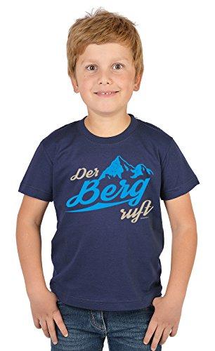 Bergesteiger Sprüche Kinder T-Shirt Wander Shirt : Der Berg Ruft - Kindershirt Klettern Berge T-Shirt Gr: S = 122-128