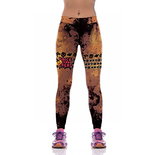 GONGFF Pantalones De Yoga Caliente De Impresión Digital Pantalones De Deportes De...