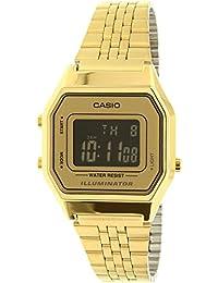 CASIO LA-680WGA-9B - Reloj con movimiento cuarzo, para mujer, color dorado