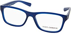 Dolce & Gabbana Mens DG5005 Eyeglasses Matte Transparent Blue 54mm