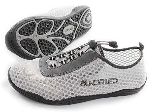 Sundried Frauen Barfuß Gym Schuhe für Lauf Skipping Yoga Super Lightweight Sporttrainer (UK 3, Grau)