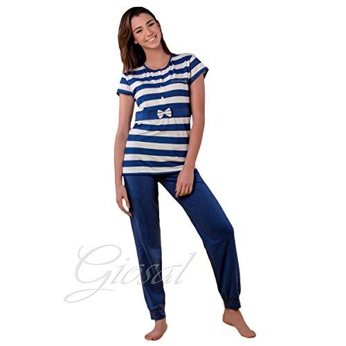 pigiama-donna-100-cotone-pierre-cardin-blu-primavera-estate-righe-fuxia-giosal-blu-46