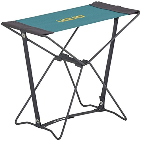 Uquip Fancy - Portable Folding Stool for Camping and Sports - Petrol Blue / Grey