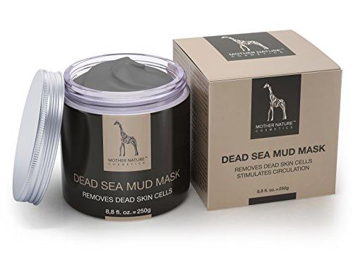 Mother Nature Gesichtsmaske Totes Meer | Pflege für sehr trockene und unreine Haut | Reinigung bei Pickel - Mitesser - Akne | Anti Aging Maske | 250g -