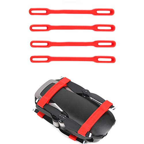 RC GearPro dji Mavic Air Accessories Propellers Fixed Supports Supports Blades Fixing Clips Protector Transport Protector, Pack 4 Parts (Red)