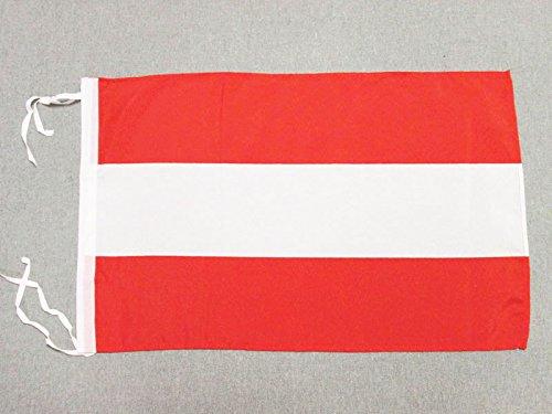FLAGGE ÖSTERREICH 45x30cm mit kordel - ÖSTERREICHISCHE FAHNE 30 x 45 cm - flaggen AZ FLAG Top Qualität