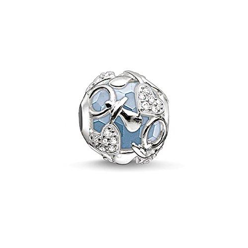 Thomas Sabo Damen-Bead Happy Baby Boy Karma Beads 925 Sterling Silber weiß hellblau K0158-843-31 (Baby Charm Gold)