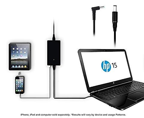 Lizone ® Ultra Slim 90W/65W Ac Adaptateur chargeur pour HP Pavilion diviser Slatebook envie Spectre Chromebook Streambook EliteBook Folio ZBook Mobile Workstation portable PC présage avec Port USB.