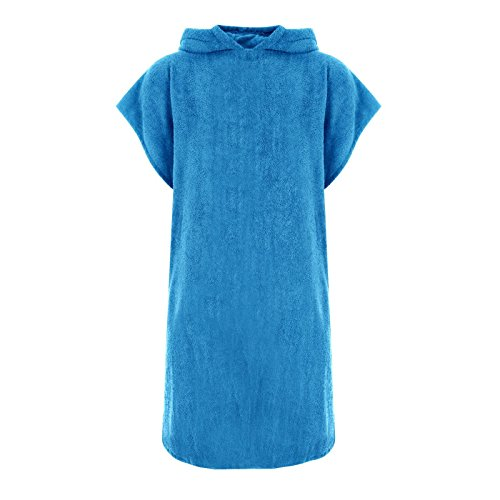 unisex-hooded-100-cotton-changing-robe-beach-terry-towelling-poncho-towel-swimming-surf-aqua-s-m