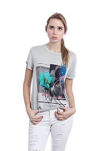 Abbino Shirt 6308-1 - Made in Italy - Spitze & Festlich - 3 Farben Grau