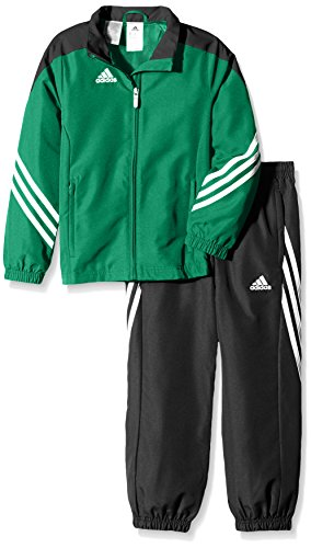 adidas Kinder Trainingsanzug Sereno 14 Top:Twilight_Green/Black/White Bottom:Black/White