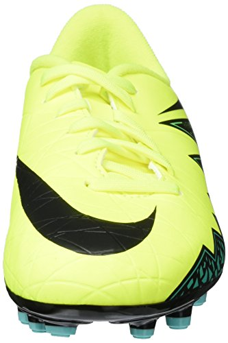 Nike Jr Hypervenom Phelon Ii Fg, Chaussures de Football Amricain Mixte Enfant Green (703 Green)