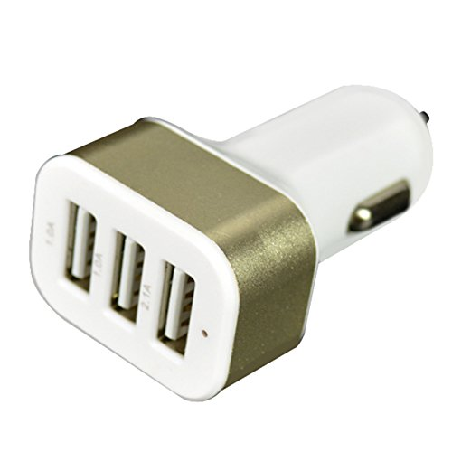 3 USB 4.1 A LED KFZ Auto 3x USB Ladegerät für Ipad 2/ipad 3g ipad/4/ipad udara 2/ipad udara/ipad Mini 2 /Ipad Mini 3/ipad Mini/ipad/ipod touch 5/ipod touch 4/Samsung Galaxy Tab Tablette/Smart Ponsel (Gold) Ipod-phone 3g